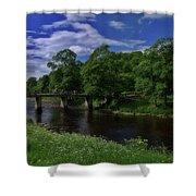 Bridge Over The River Wharf Shower Curtain