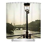 Bridge Over The Seine. Paris. France. Europe. Shower Curtain