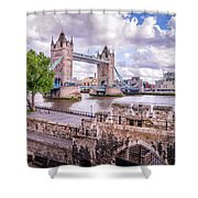 Bridge Over The Thames Shower Curtain