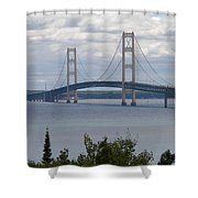 Bridge Over The Water Shower Curtain