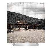 Bridge Over The Winooski Shower Curtain