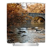 Bridge Over The Wissahickon At Valley Green Shower Curtain