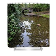 Bridge Over Tranquil Waters Shower Curtain