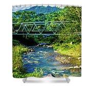 Bridge Over Tropical Dreams Shower Curtain