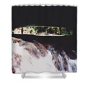 Bridge Over Water Shower Curtain