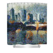 Bridge Over Yarra River In Melbourne Shower Curtain