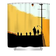 Bridge People Shower Curtain