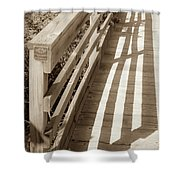 Bridge Railing Shower Curtain