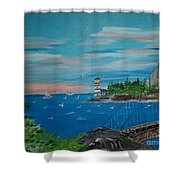 Bridge Scene Shower Curtain