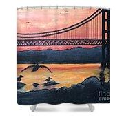 Bridge Silhouette  Shower Curtain