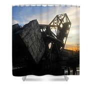 Bridge Sundown Shower Curtain