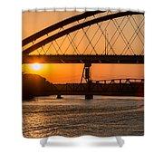 Bridge Sunrise And Boater Shower Curtain