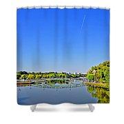 Bridge The Gap. Mirroring Shower Curtain