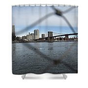 Bridge Through The Fence Shower Curtain