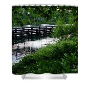 Bridge Through The Trees Shower Curtain