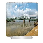 bridge to Belpre, Ohio Shower Curtain