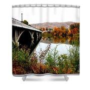 Bridge To Downtown Prosser Shower Curtain