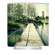 Bridge To Evening Island Shower Curtain