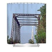 Bridge To God Shower Curtain