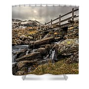 Bridge To Moutains Shower Curtain