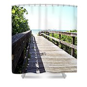 Bridge To Paradise Gp Shower Curtain