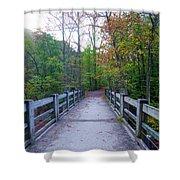 Bridge To Paradise - Wissahickon Valley Shower Curtain