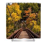 Bridge To Rainbow Falls Shower Curtain