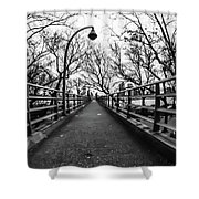Bridge To The East River Shower Curtain