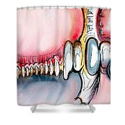 Bridge To The Land Of Hairy Knuckles Shower Curtain