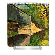 Bridge To Windham, Maine Shower Curtain