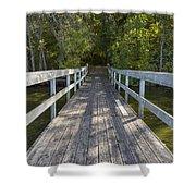 Bridge To Woods 1 Shower Curtain