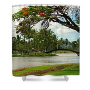 Bridges At Wailoa Shower Curtain