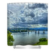 Bridges Of Chattanooga Tennessee Shower Curtain