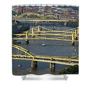Bridges Of Pittsburgh Shower Curtain