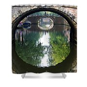 Bridges On Herengratch Canal In Amsterdam. Netherlands. Europe Shower Curtain