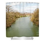 Bridges Over The Guadalupe Shower Curtain