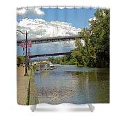 Bridges Spanning The Rondout Shower Curtain