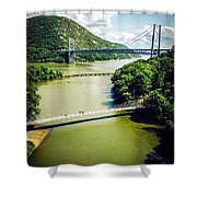 Bridges Through The Valley Shower Curtain
