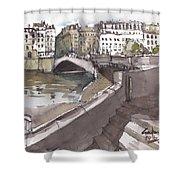 Bridging The Seine Shower Curtain