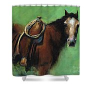 Bridle Ready Shower Curtain