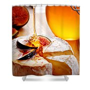 Brie Cheese With Figs And Honey Shower Curtain