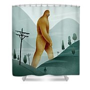Brief Encounter With The Tall Man Shower Curtain