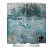 Brierly Beach Shower Curtain