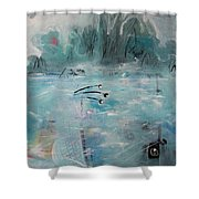 Brierly Beach Shower Curtain