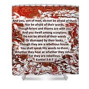 Briers And Thorns With Scripture Shower Curtain