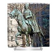 Brigadier General Casimir Pulaski Saved George Washington's Life Shower Curtain