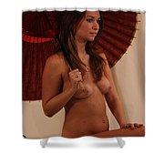 Brigette With Parasol Shower Curtain