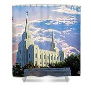 Brigham City Utah Temple Shower Curtain