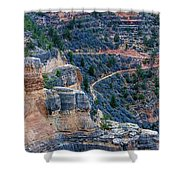 Bright Angel Trail @ Grand Canyon Shower Curtain