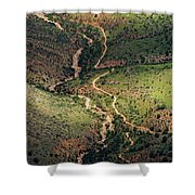 Bright Angel Trail Abstract Shower Curtain